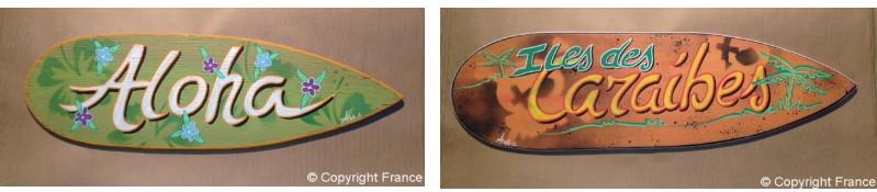 Mini Planche De Surf Deco : Plaque surf décorative de porte personnalisable