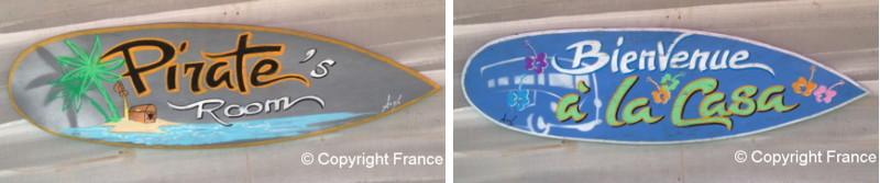D co surf panneau pancarte personnalis e avec pr nom pour for Decoration pour porte de chambre