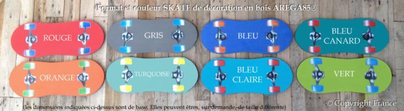 Souvent Plaque SKATE Prénom de Porte Enfant Personnalisable - Plaque Rétro  AV46